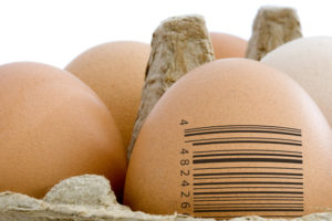 Barcode on egg